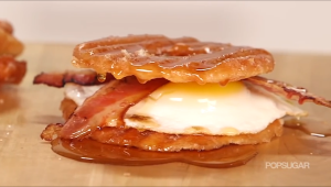 donut chip breakfast sandwich egg bacon