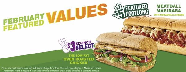 Meatball Marinara And Oven Roasted Chicken Are Subway S Featured