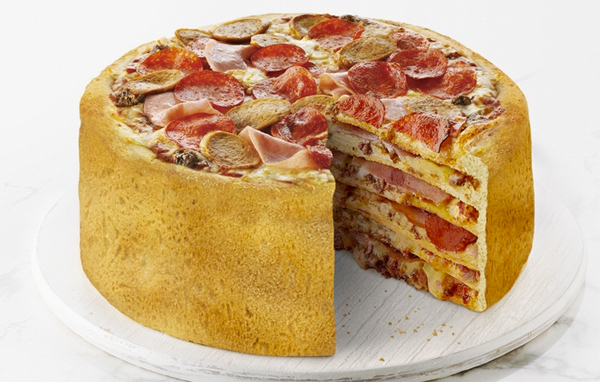 Multilayered Birthday/Wedding/Any Reason Cake is Made Entirely of Pizza