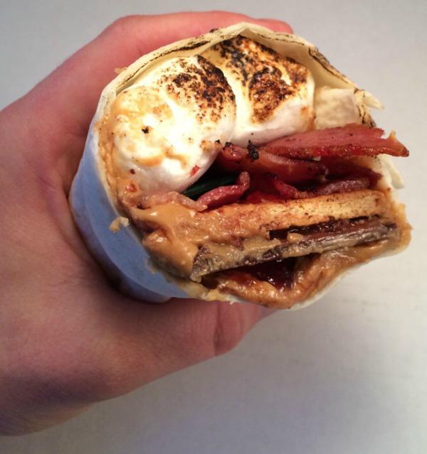 PB&J Bacon S'more Burrito