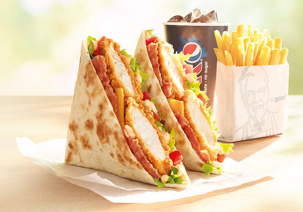 Kfc Releases Blt Chicken Quadwrap In The Uk