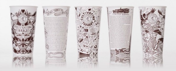 Chipotle One Ups Starbucks Cup Art: Features Stories by 10 Remarkable Authors on Cups