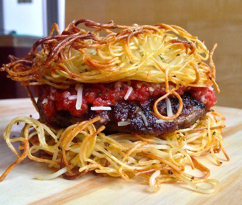spaghetti burger