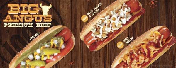 New Blue Cheese Amp Bacon Angus Hot Dogs At Wienerschnitzel
