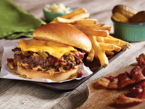 Applebee S Creates Un Sloppy Burger By Cooking Toppings