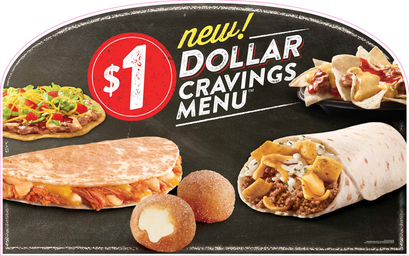 Taco Bell Challenges McDonalds with New '$1 Dollar Cravings Menu'