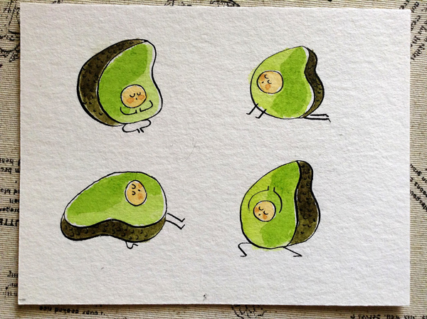 Yoga-Avocado