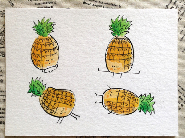 Yoga-Pineapple