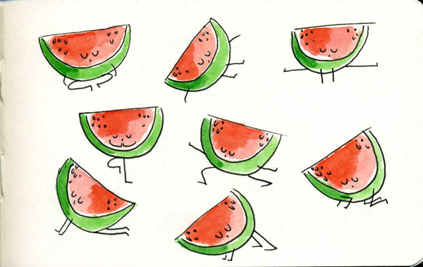 Yoga-Watermelon