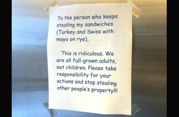 office-sandwich-prank