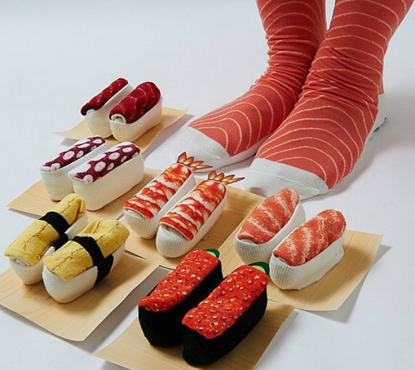 These Tasty Socks Transform Into Giant Sushi When You Roll Them Up