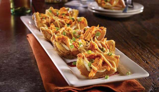 TGI Friday's Endless Appetizers Adds Sriracha Chicken Potato Skins and Ahi Tuna Crisps
