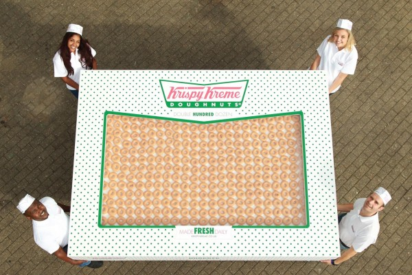 double hundred dozen krispy kreme