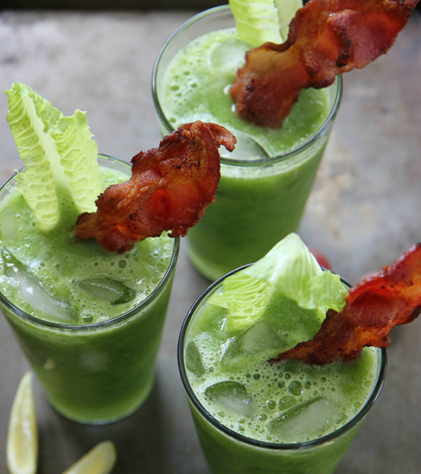spicy blt green bloody mary