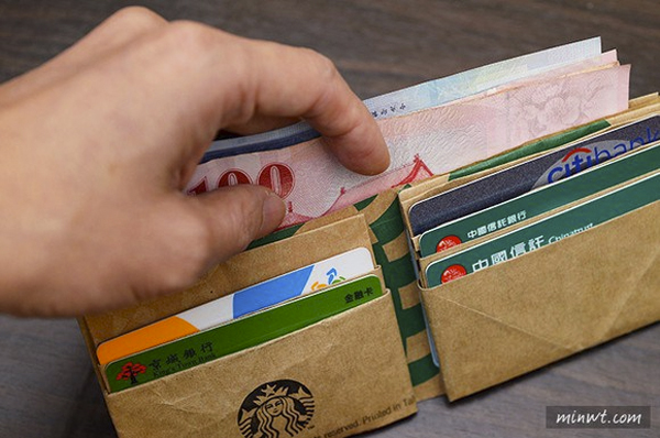 Here S How To Transform A Starbucks Paper Bag Into A Wallet