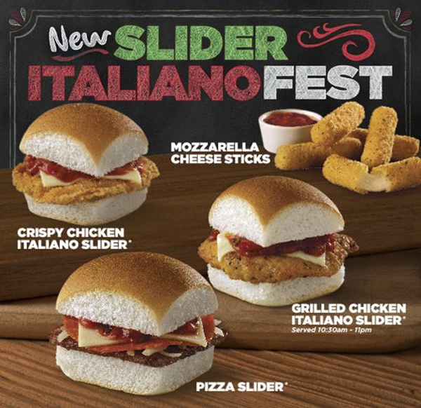 White Castle Now Testing Marinara Pizza Sliders Topped