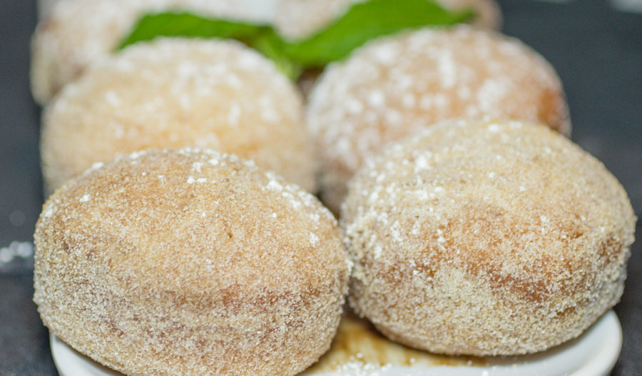 Warm cinnamon crusted donuts flemings
