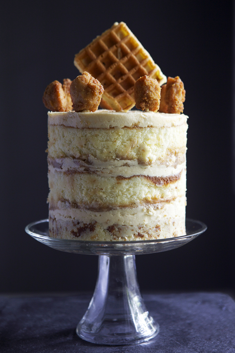 chicken and waffles cakes