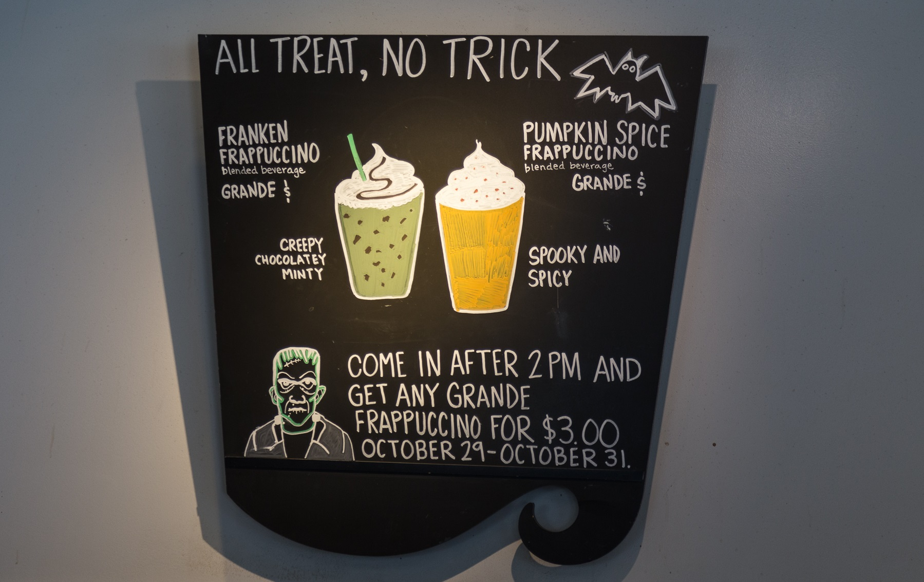This Is The Franken Frappuccino Starbucks Halloween Drink
