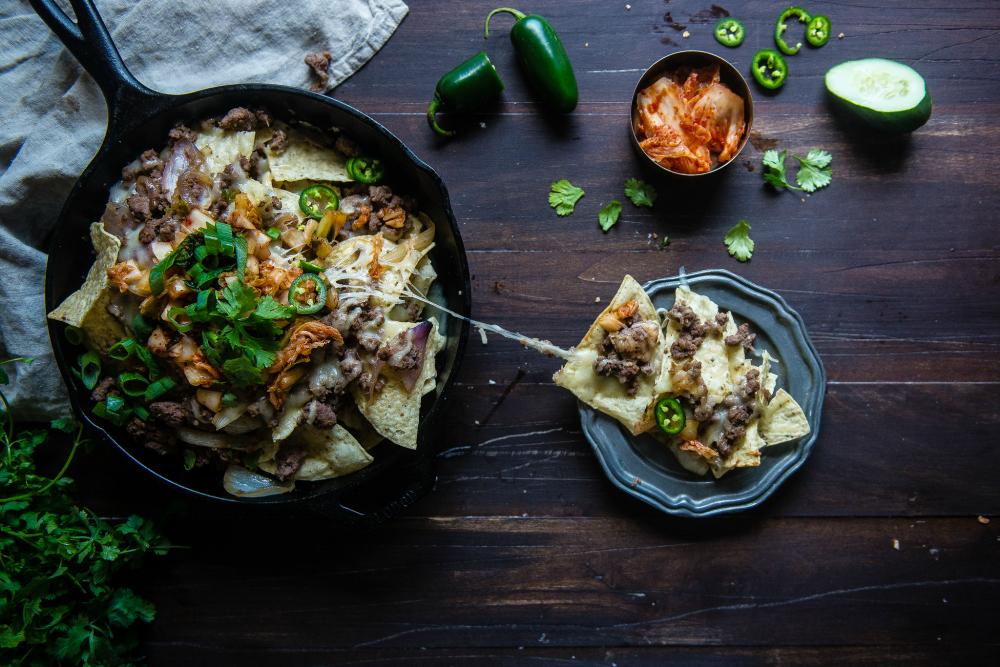 kimchi nachos