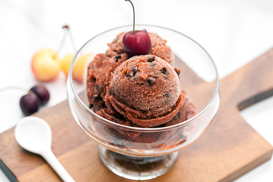 Chocolate Chip Cherry Sorbet-3