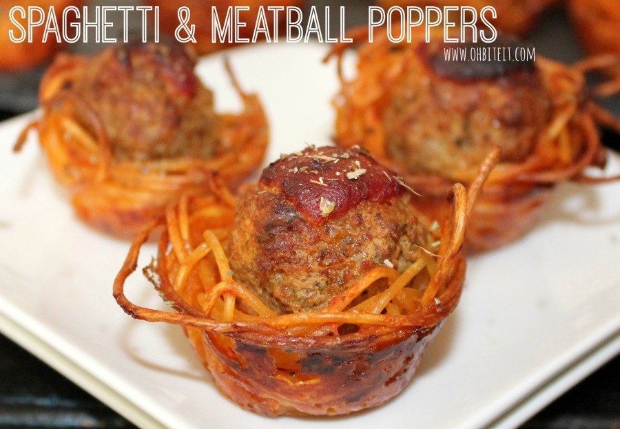 Spaghetti and meatball poppers no forks necessary for Meatball canape