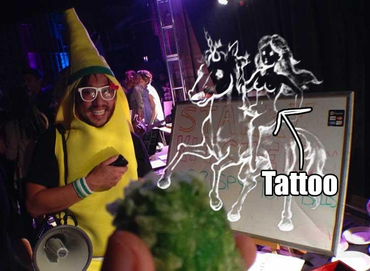 restaurant owner unicorn tattoo