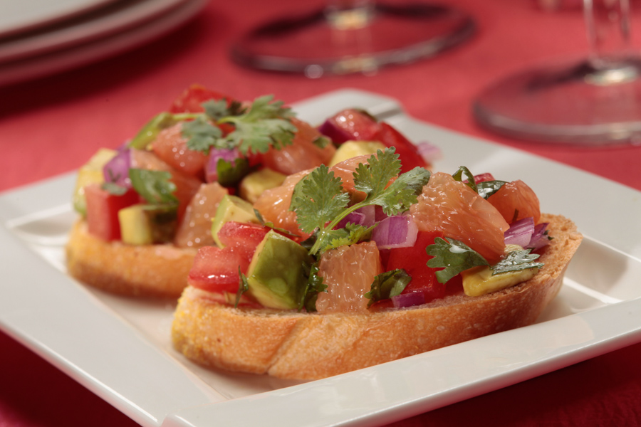 Grapefruit Bruschetta-