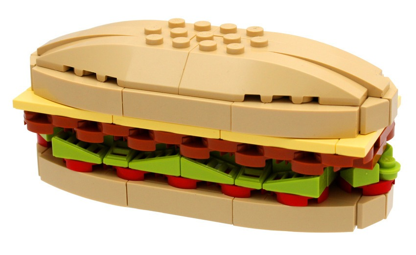 Lego Toy Food : Gorgeous food art made out of legos