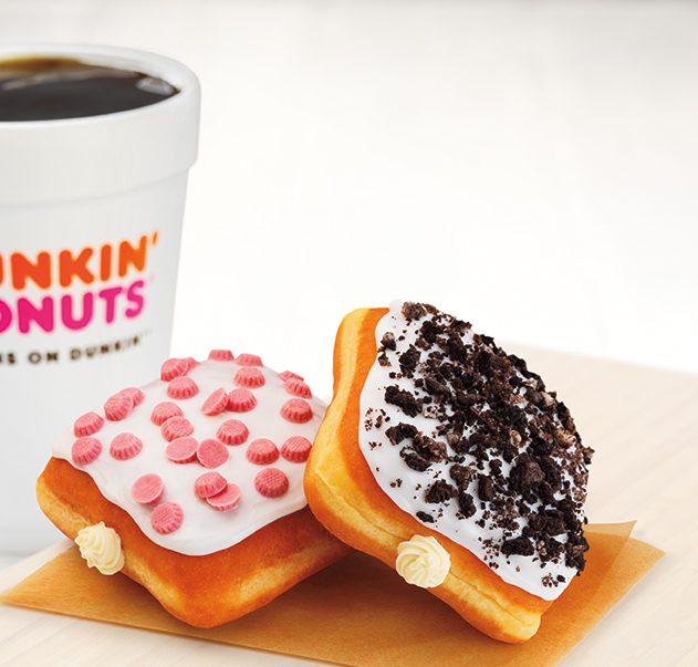 Dunkin' Donuts' New Spring Menu Includes A Ridiculous Cheesecake-Filled OREO Square