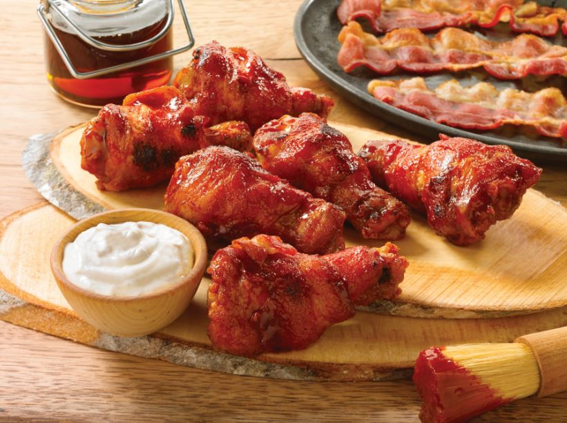 New Reason To Go To Hooters, Bacon-Wrapped Wings