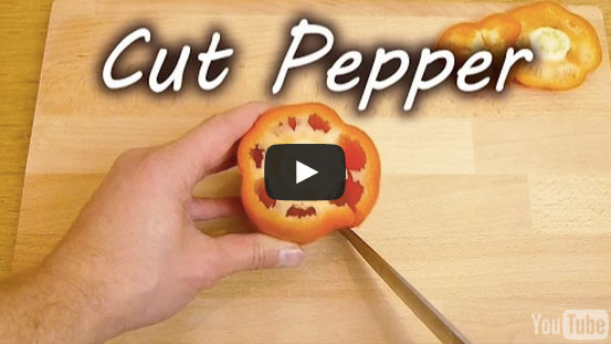 The Most Simple Way To Cut And Clean A Pepper [WATCH]