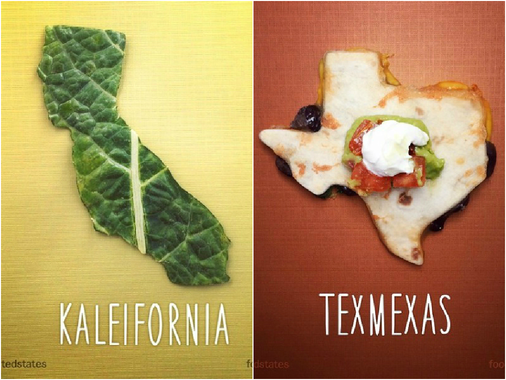 FatherSon Duo Create US Map With Punny Food Names - Create us map
