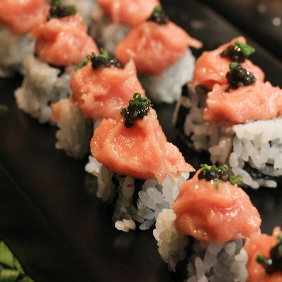 Toro Caviar Sushi Roll Masa Takayama Las Vegas