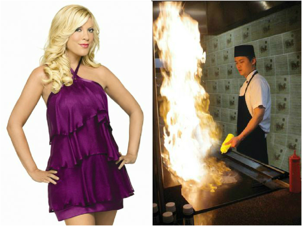 Tori Spelling Hospitalized After Tripping And Falling Onto A Sizzling Hibachi Grill
