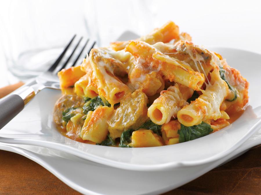 Baked Ziti With Creamy Kale & Sausage Recipe — Dishmaps