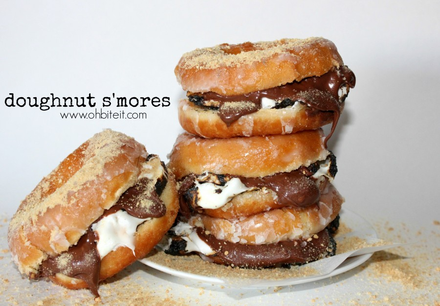 S'morenuts: How To Make Nutella S'mores With Glazed Donuts