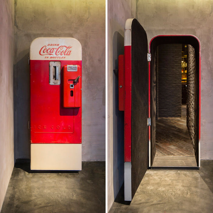 This Old Coke Machine Is Actually A Secret Entrance Into A