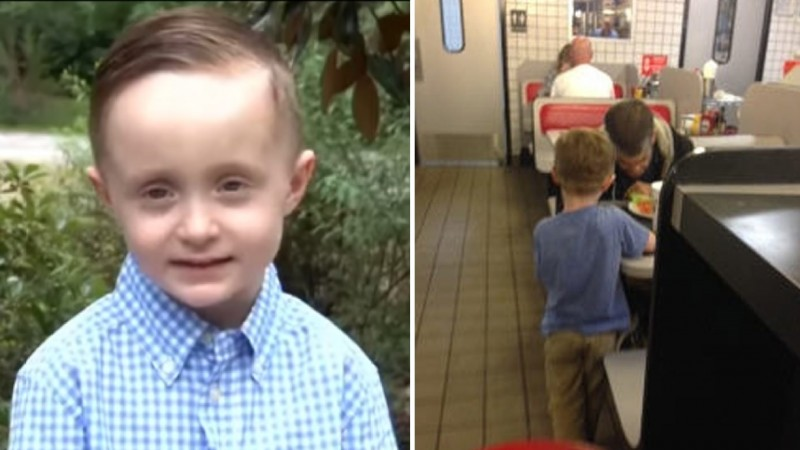 5-Year-Old Boy Begs Mom To Buy Homeless Man Dinner, Brings Whole Restaurant To Tears