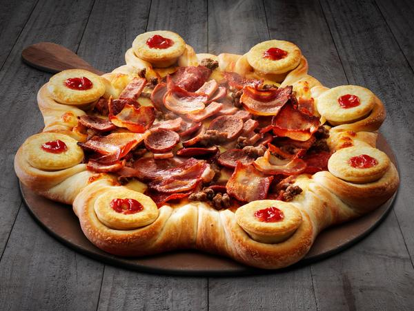 Pizza Hut Just Made A Ridiculous New Pizza With Mini Meat Pies In The Crust