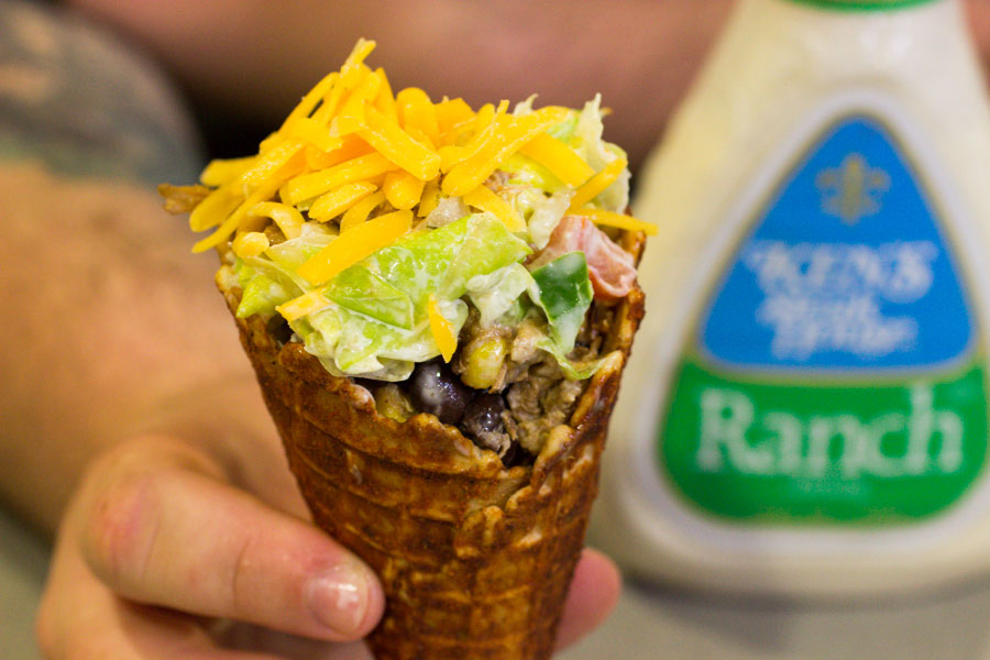 Here's How To Make A Ranch Taco Salad Cone