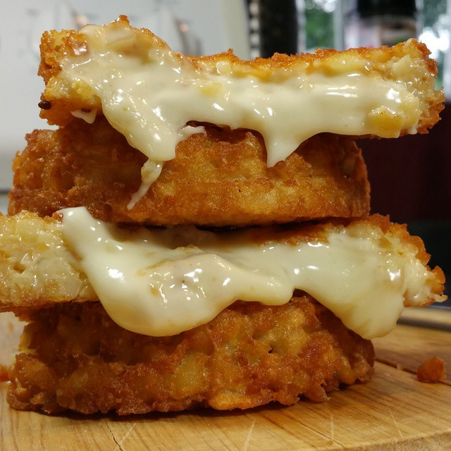 How To Make A CHEESE-STUFFED TATER TOT The Size Of A Burger