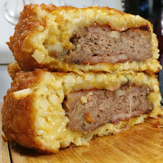 This Guy Made A Bacon-wrapped Cheeseburger-stuffed Tater Tot [WATCH]