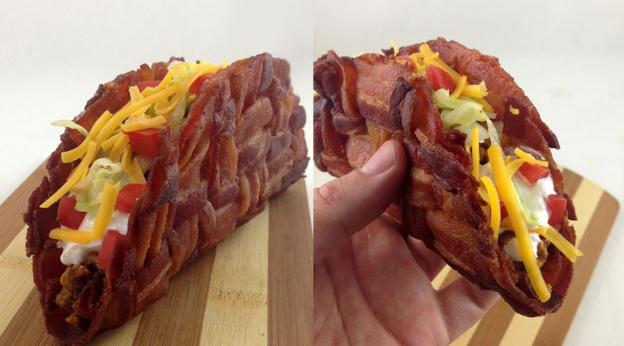 Bilderesultat for bacon taco