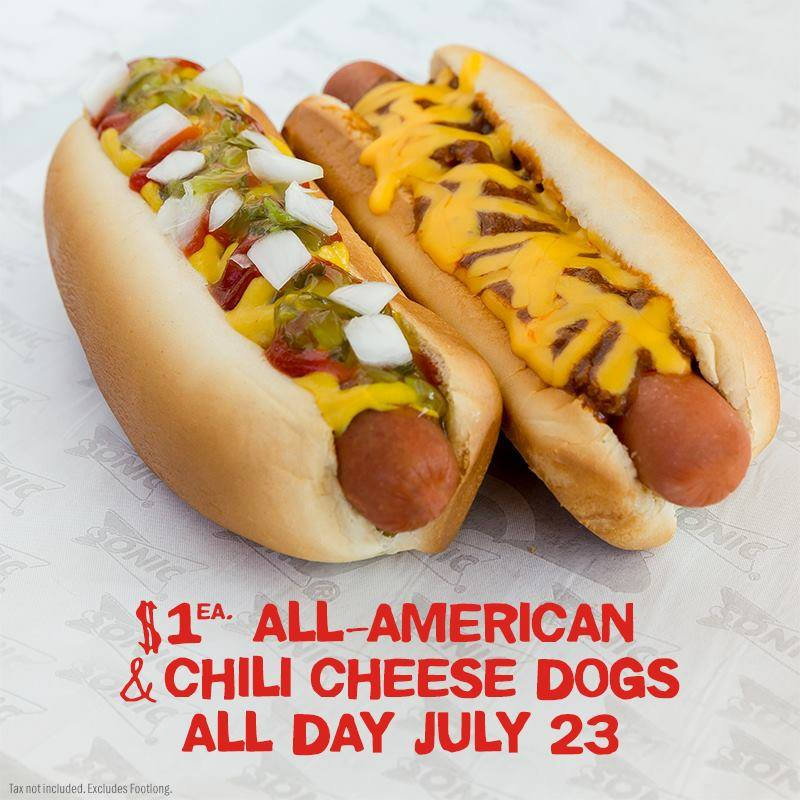 National Hot Dog Day Sonic