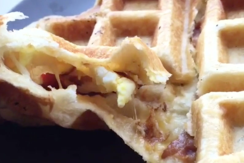 Bacon-Waffle-Biscuit