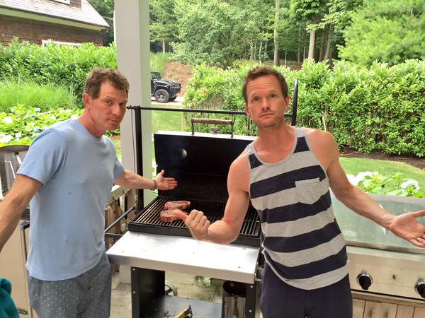 Bobby Flay Teaching Neil Patrick Harris How To BBQ Made His Birthday LEGEN... DARY!