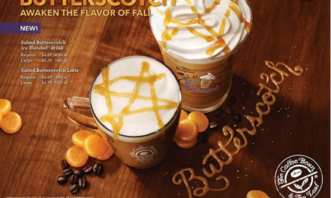 New Salted Butterscotch Drinks Added To Coffee Bean & Tea Leaf Fall Menu