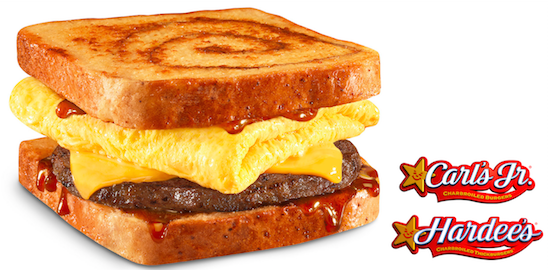 Carl's Jr. Put French Toast Buns On Its New Breakfast Sandwich