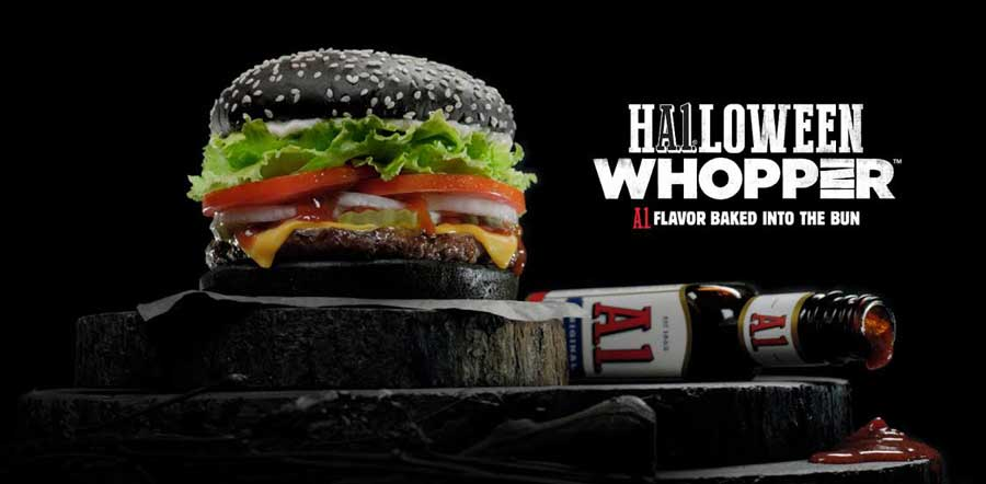 Burger King's New Halloween Whopper Features Pitch Black Buns